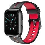 AIKELA Smartwatch,Relojes Inteligentes Mujer Hombre,Deporte Reloj de Fitness con Impermeable IP68,Actividad Monitores de Datos Físicos/Ciclo Menstrual Femenino,Compatible con Android iOS Rojo