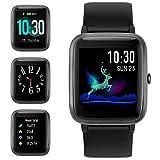 Smart Watch Bluetooth 5.0 Reloj Inteligente Hombre Mujer IP68 GPS Sueño Pulsómetros Podómetro Caloría Rastreador Ejercicios Música Control Despertador Pantalla Táctil Completa para Android iPhone