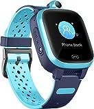 Fitonme 4G Reloj Inteligente para Niños - Smart Watch con GPS con Posición en Tiempo Real a Prueba de Agua, WiFi, Mensaje de Videollamada, Podómetro, Geofence SOS, Anti-Pérdida de Educación Temprana