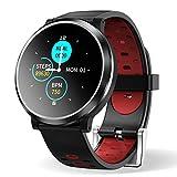 HopoFit Smartwatch Reloj Inteligente, HF04 Impermeable IP67 Podómetro Pulsómetros con Monitor de Sueño, Caloría, Notificación Llamada y Mensaje, Cámara Remoto para Andriod iOS, Hombres Mujeres(Black)