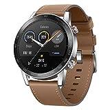 HONOR Smartwatch Magic Watch 2 46mm (hasta 2 Semanas de Batería, Pantalla Táctil AMOLED de 1.39', GPS, 15 Modos Deportivos, Llamadas Bluetooth) para Hombre Mujer, Lino Marrónn