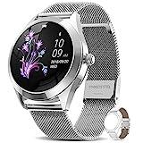 AIMIUVEI Smartwatch Mujer, Reloj Inteligente IP68 con Pulsómetro, Monitor de Sueño, Seguimiento del Menstrual, 9 Modos de Deportes, Notificaciones Inteligentes, Reloj Mujer para Android iOS
