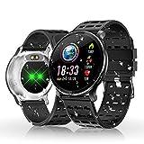 Reloj Inteligente, HOLALEI Smartwatch Pulsera Inteligente Impermeable IP68 Pantalla Color Podómetro con Pulsómetro, Monitor de Calorías, Sueño para Android y iOS (Plata)