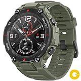 Amazfit T-Rex Reloj Smartwatch Deportivo - 20 Días Batería, 12 Certificados Militares, 50m Agua, 14 Modos Deportivos, Doble Satélite, Pantalla AMOLED (Antihuellas), Bio-Tracker PPG, V.Global (Verde)