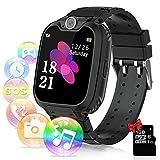 Relojes para Niños - Música Smartwatch para Niños Niña Game Watch (Tarjeta SD de 1GB incluida Pantalla táctil Relojes Inteligentes con Llamada Juego Cámara Música (Negro)