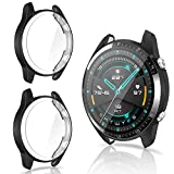 CAVN Protector de Pantalla Compatible con Huawei Watch GT2 46mm (Not para GT2 Pro), 2 Unidades, TPU Suave Resistente a los arañazos, a Prueba de arañazos Funda Protector para GT2 46mm