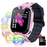 Relojes para Niños - Música Smartwatch para Niños Niña Game Watch (Tarjeta SD de 1GB incluida Pantalla táctil Relojes Inteligentes con Llamada Juego Cámara Música (Rosa)