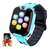 Moweallarge Smartwatch para Niños Game Watch - Juego de Música Reloj Inteligente (Incluye Tarjeta Micro SD de 1GB) con Juegos de Llamada Grabadora de Cámara Reloj Despertador para Niños Niñas (Azul)