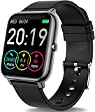 Rinsmola Smartwatch, Reloj Inteligente Hombre de Pantalla Táctil, Pulsera Actividad Inteligente con Pulsómetro, Monitor de Sueño, Reloj Digital Calorías Podómetro Impermeable IP67 para Android e iOS