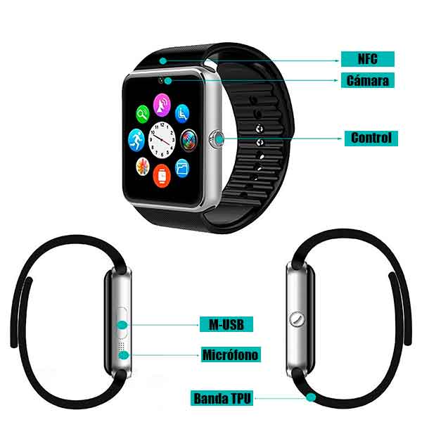 Conectividad del WillFul Smartwatch​