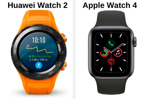 Huawei Watch 2 vs Apple Watch 4