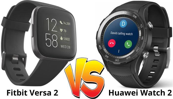 fitbit Versa 2 vs Huawei Watch 2