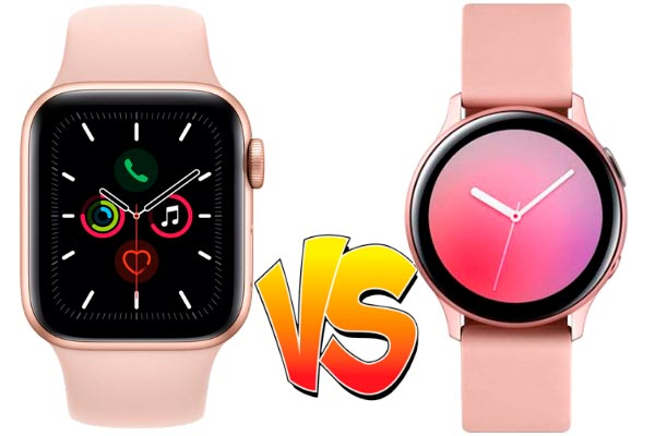 Galaxy Watch Active 2 vs Apple Watch Series 5