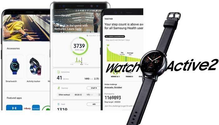 app galaxy watch active 2