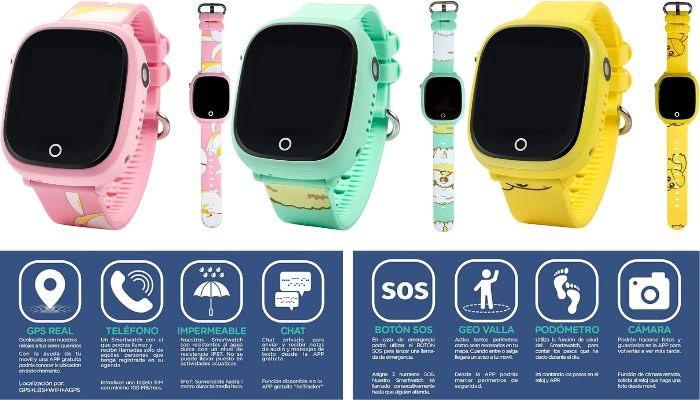 reloj para niños con gps y llamadas